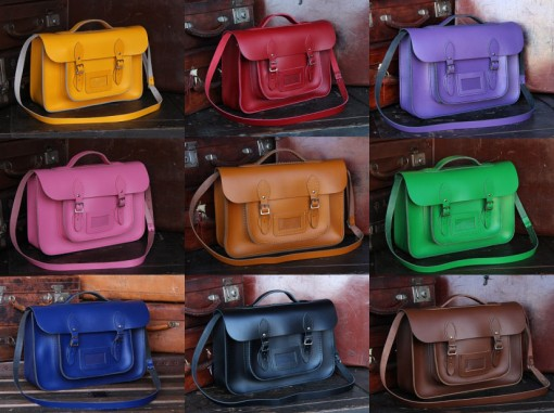 classic leather satchels from scaramanga