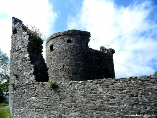 Another angle of the keep and curtain wall.
