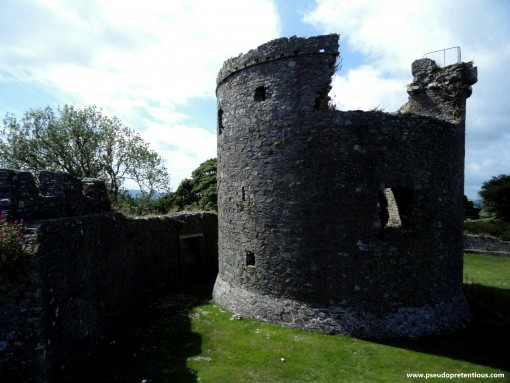 The castle keep and curtain wall.