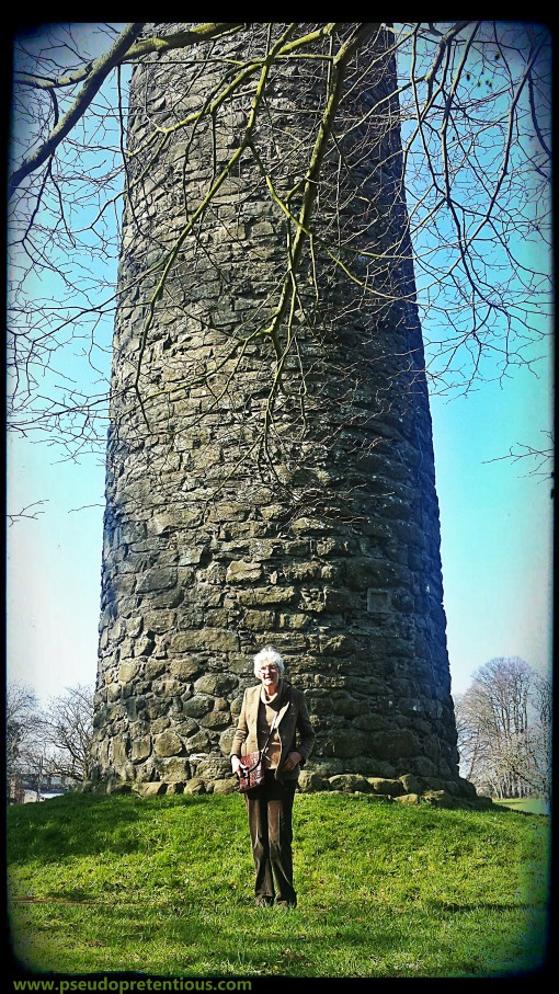 mum-in-law at the antrim round tower